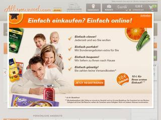allyouneed.com Gutschein 8,- € ab 40,- € MBW