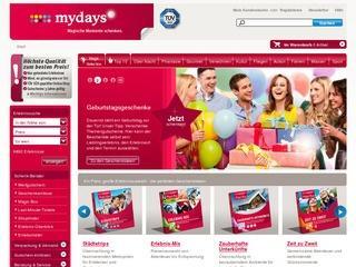 mydays gutschein bis 30.09.2012