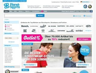 Planet Sport Gutschein 20,- € ab 100,- € MBW